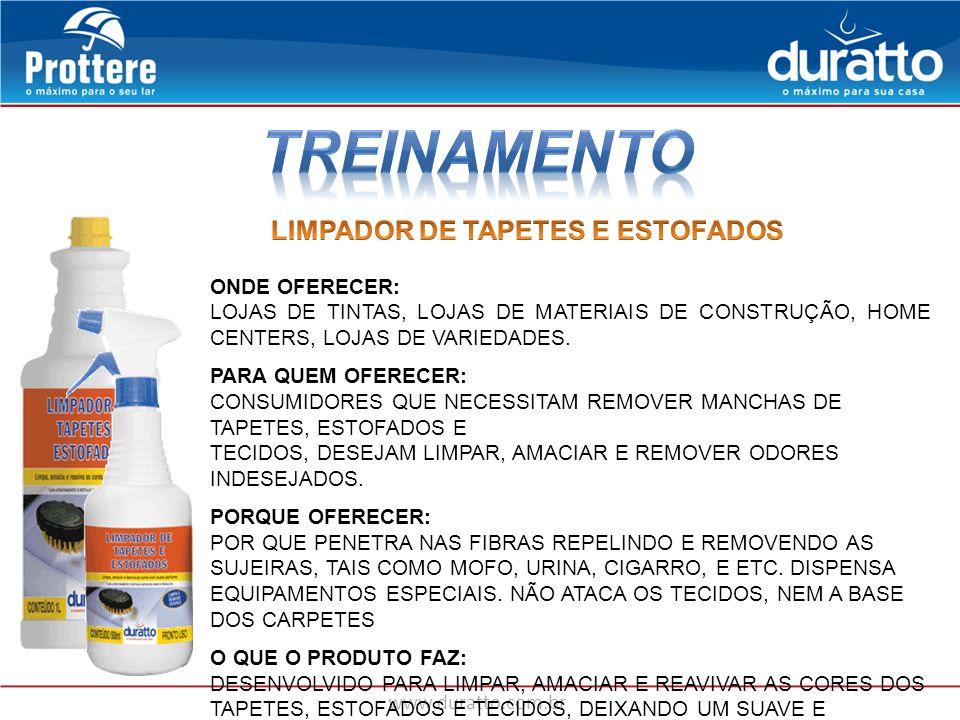 TREINAMENTO LIMPADOR DE TAPETES E ESTOFADOS ONDE OFERECER: