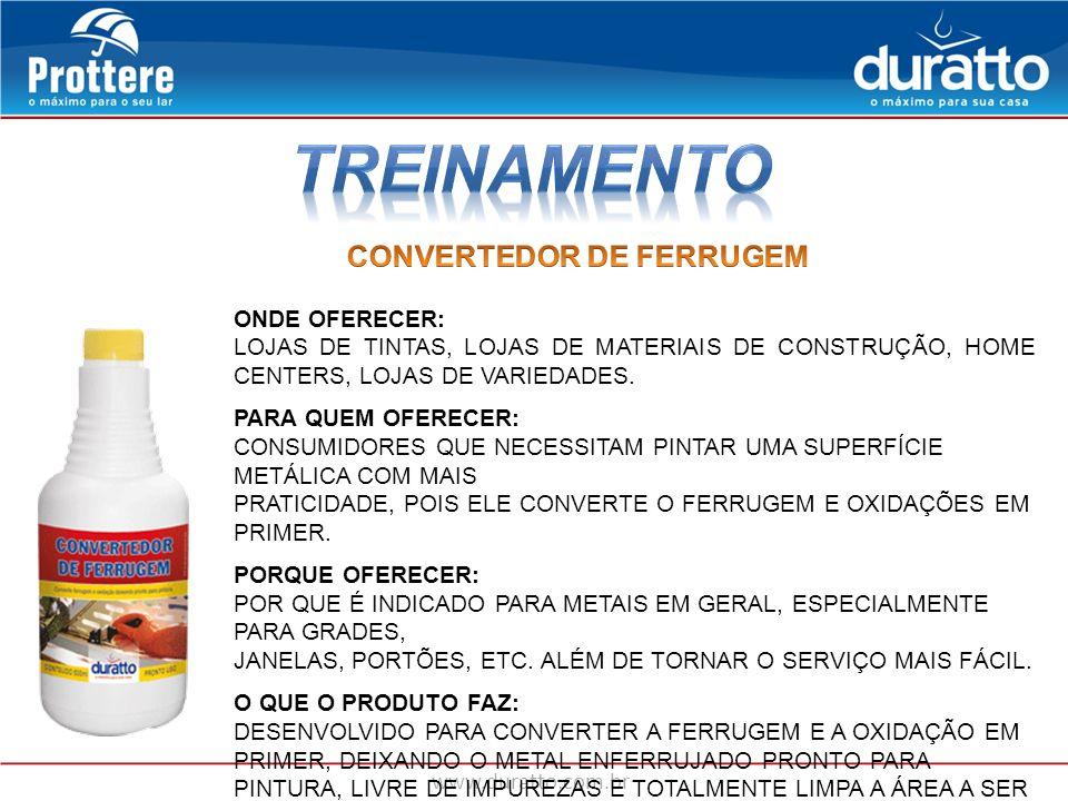 TREINAMENTO CONVERTEDOR DE FERRUGEM ONDE OFERECER: