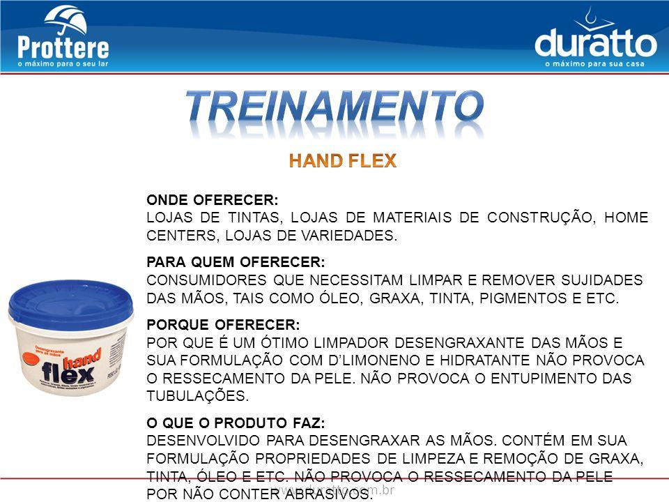 TREINAMENTO HAND FLEX ONDE OFERECER: