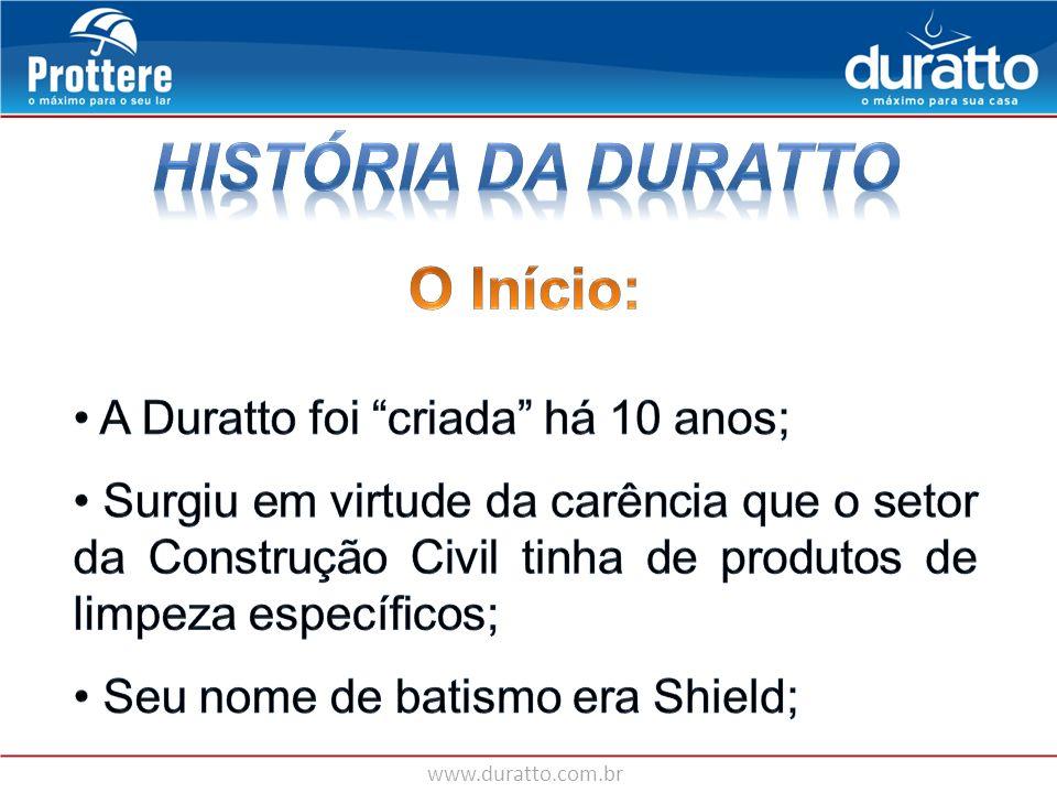 História da Duratto O Início: A Duratto foi criada há 10 anos;