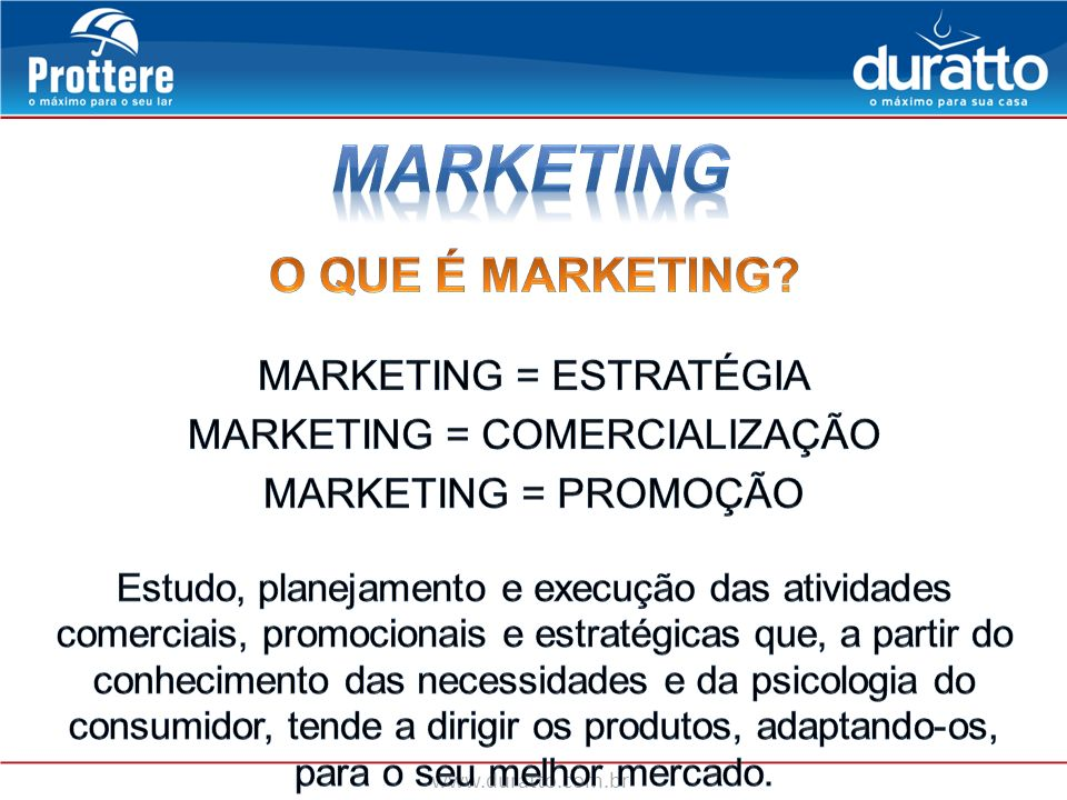 MARKETING O QUE É MARKETING MARKETING = ESTRATÉGIA