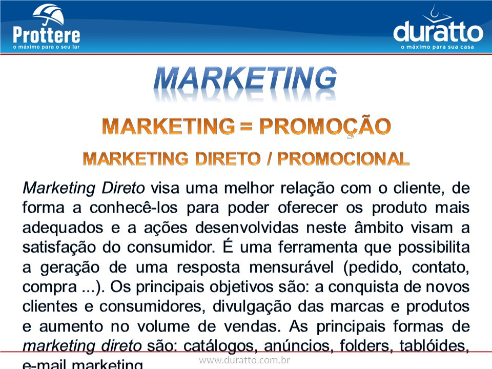 MARKETING DIRETO / PROMOCIONAL