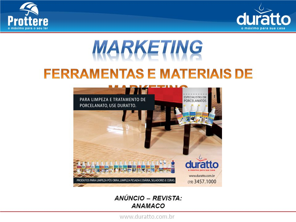 FERRAMENTAS E MATERIAIS DE MARKETING
