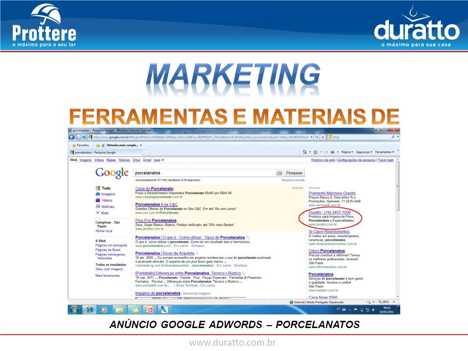 MARKETING FERRAMENTAS E MATERIAIS DE MARKETING