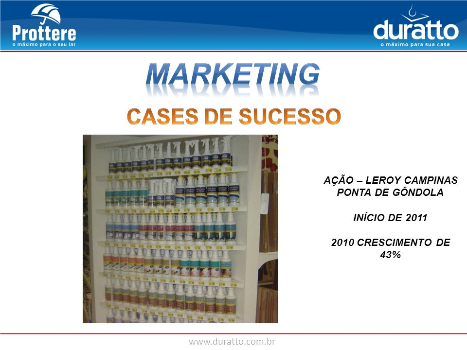 MARKETING CASES DE SUCESSO AÇÃO – LEROY CAMPINAS PONTA DE GÔNDOLA
