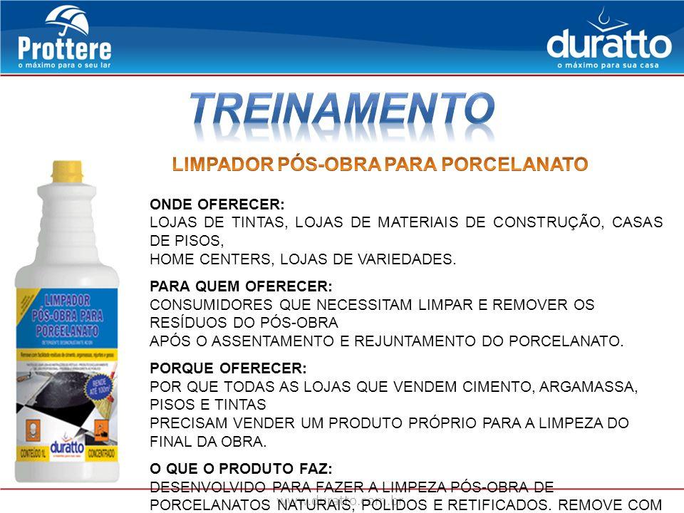 TREINAMENTO LIMPADOR PÓS-OBRA PARA PORCELANATO ONDE OFERECER: