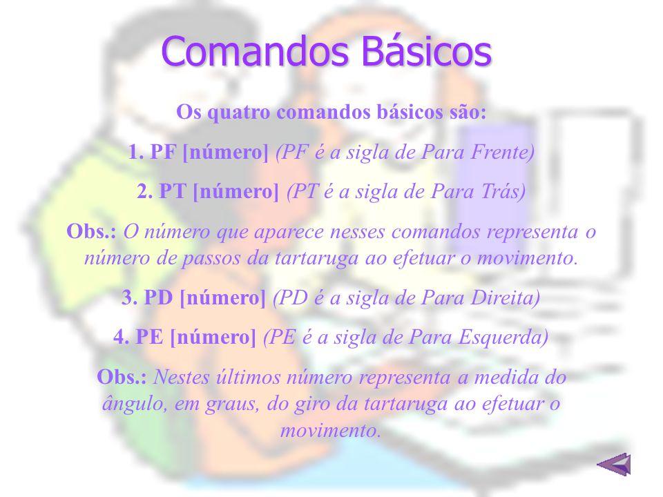 Os quatro comandos básicos são: