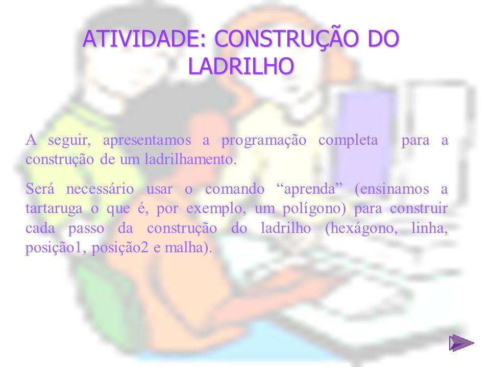 ATIVIDADE: CONSTRUÇÃO DO LADRILHO