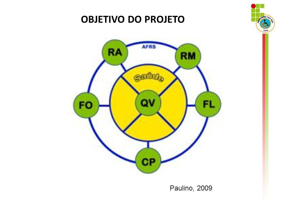 OBJETIVO DO PROJETO Paulino, 2009