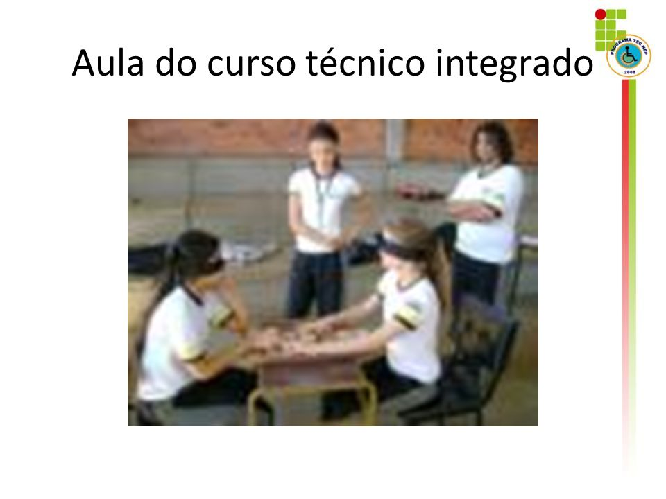 Aula do curso técnico integrado