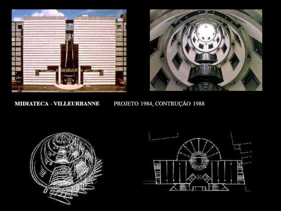 MIDIATECA - VILLEURBANNE PROJETO 1984, CONTRUÇÃO 1988