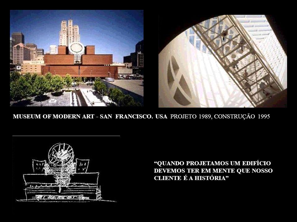 MUSEUM OF MODERN ART - SAN FRANCISCO. USA PROJETO 1989, CONSTRUÇÃO 1995