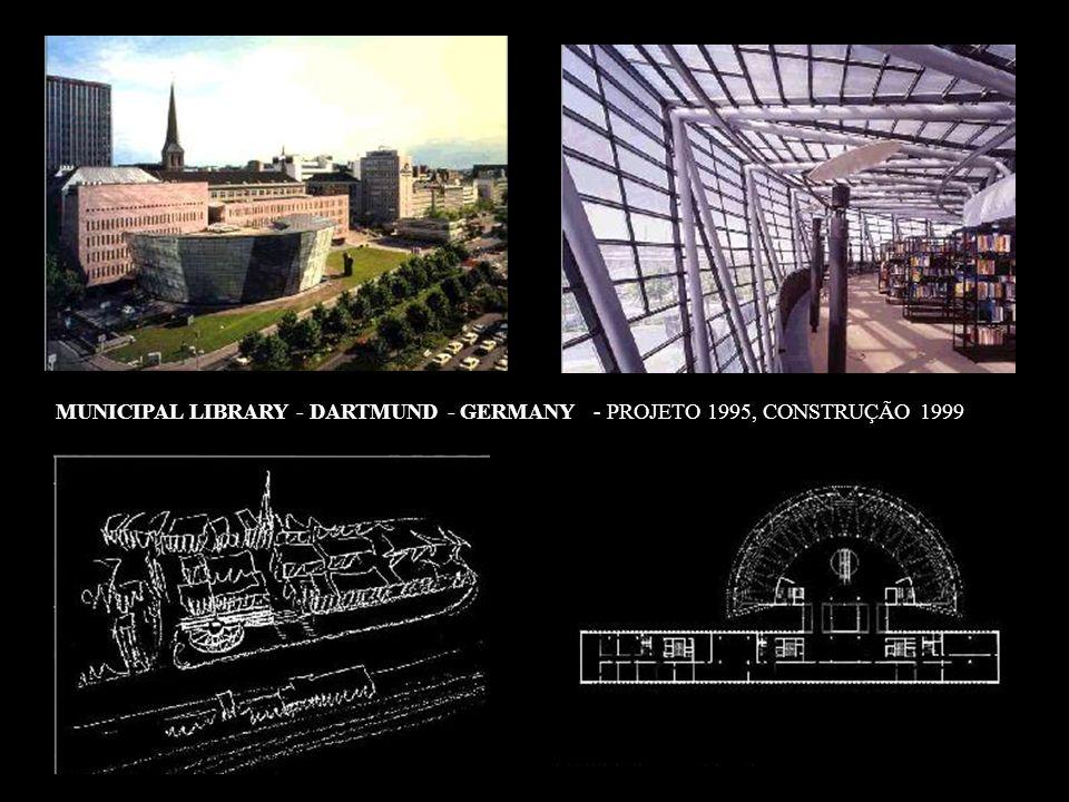 MUNICIPAL LIBRARY - DARTMUND - GERMANY - PROJETO 1995, CONSTRUÇÃO 1999