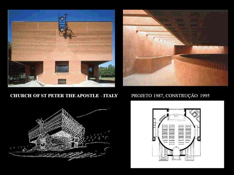 CHURCH OF ST PETER THE APOSTLE - ITALY PROJETO 1987, CONSTRUÇÃO 1995