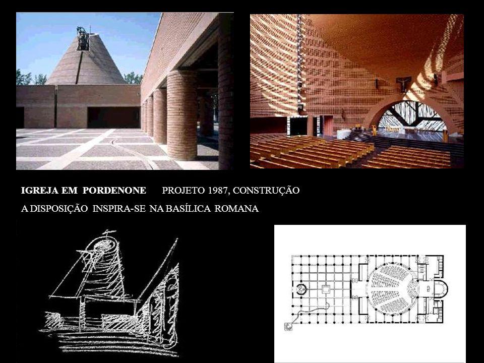 IGREJA EM PORDENONE PROJETO 1987, CONSTRUÇÃO