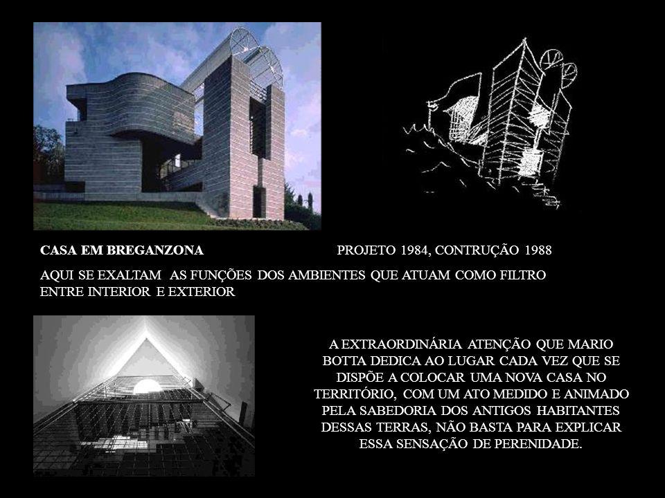 CASA EM BREGANZONA PROJETO 1984, CONTRUÇÃO 1988