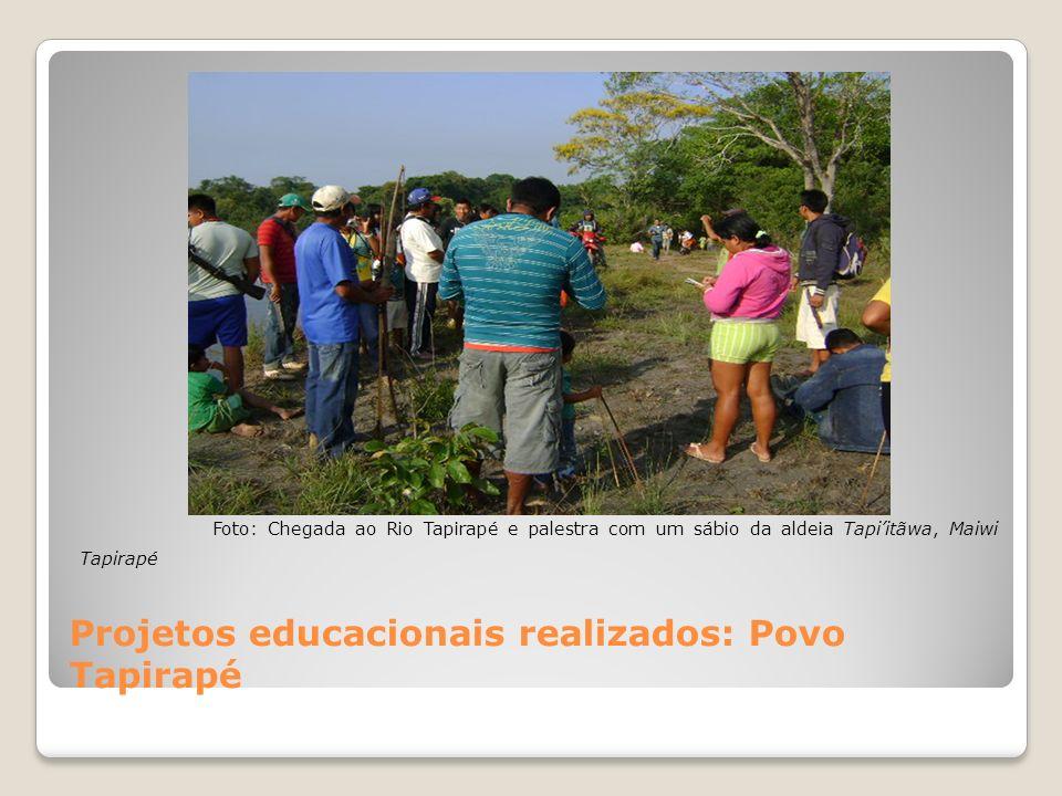 Projetos educacionais realizados: Povo Tapirapé