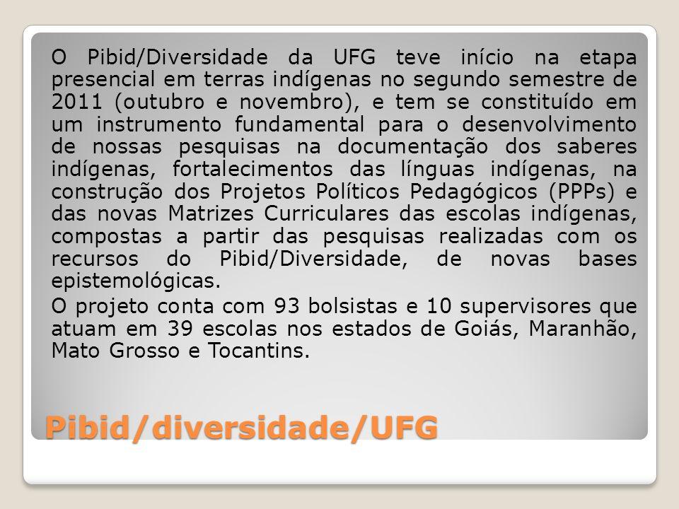 Pibid/diversidade/UFG