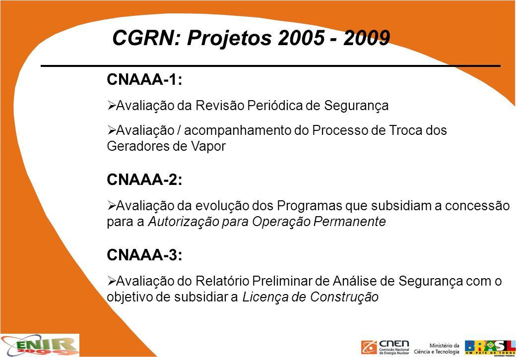 CGRN: Projetos 2005 - 2009 CNAAA-1: CNAAA-2: CNAAA-3: