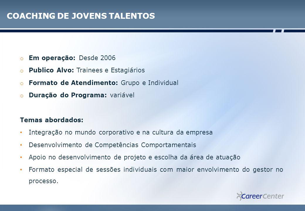 COACHING DE JOVENS TALENTOS