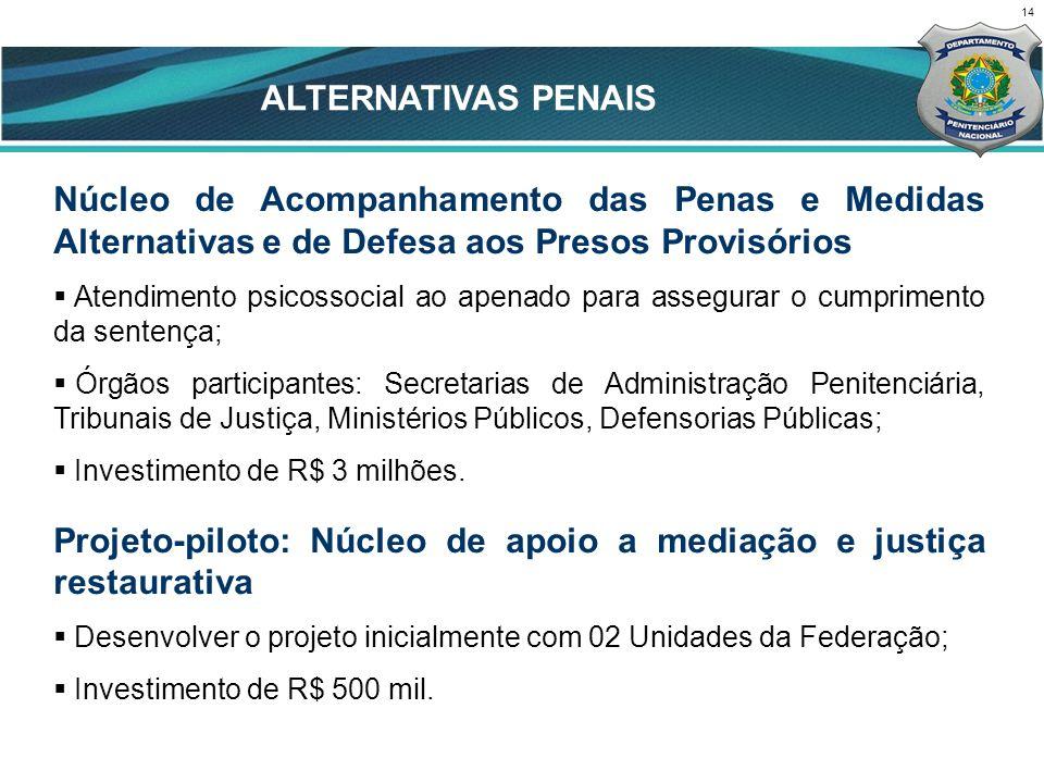 CENÁRIO ATUAL ALTERNATIVAS PENAIS