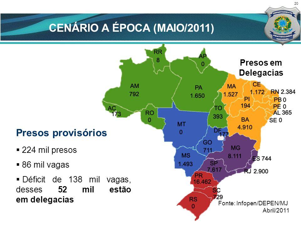CENÁRIO A ÉPOCA (MAIO/2011)