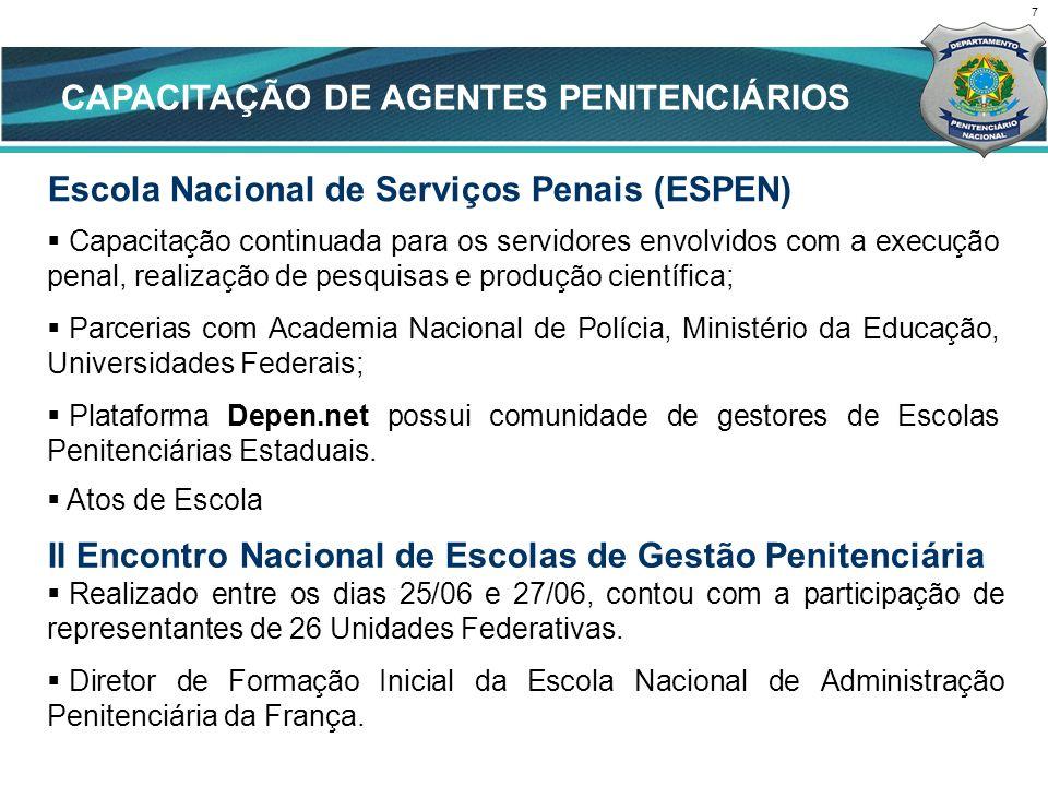 CAPACITAÇÃO DE AGENTES PENITENCIÁRIOS