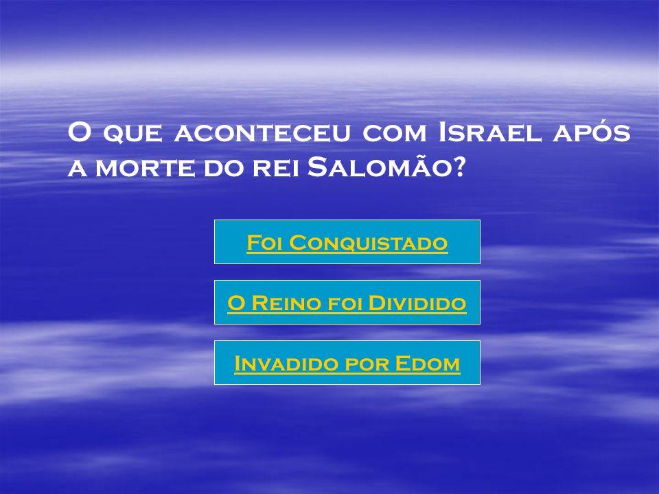 O que aconteceu com Israel após a morte do rei Salomão