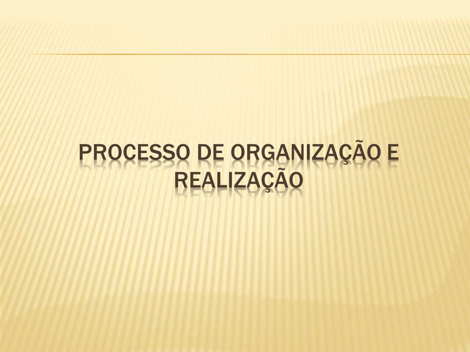 Processo de organização e realização