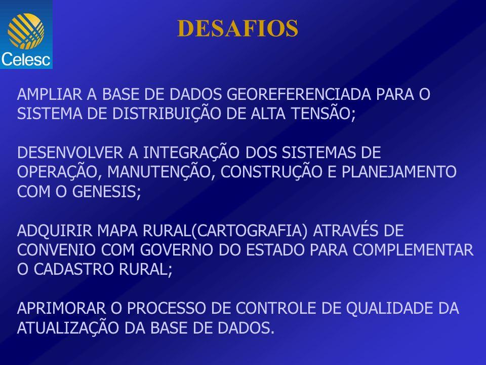 DESAFIOS AMPLIAR A BASE DE DADOS GEOREFERENCIADA PARA O