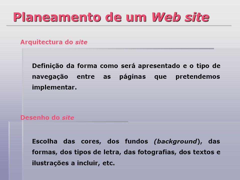 Planeamento de um Web site