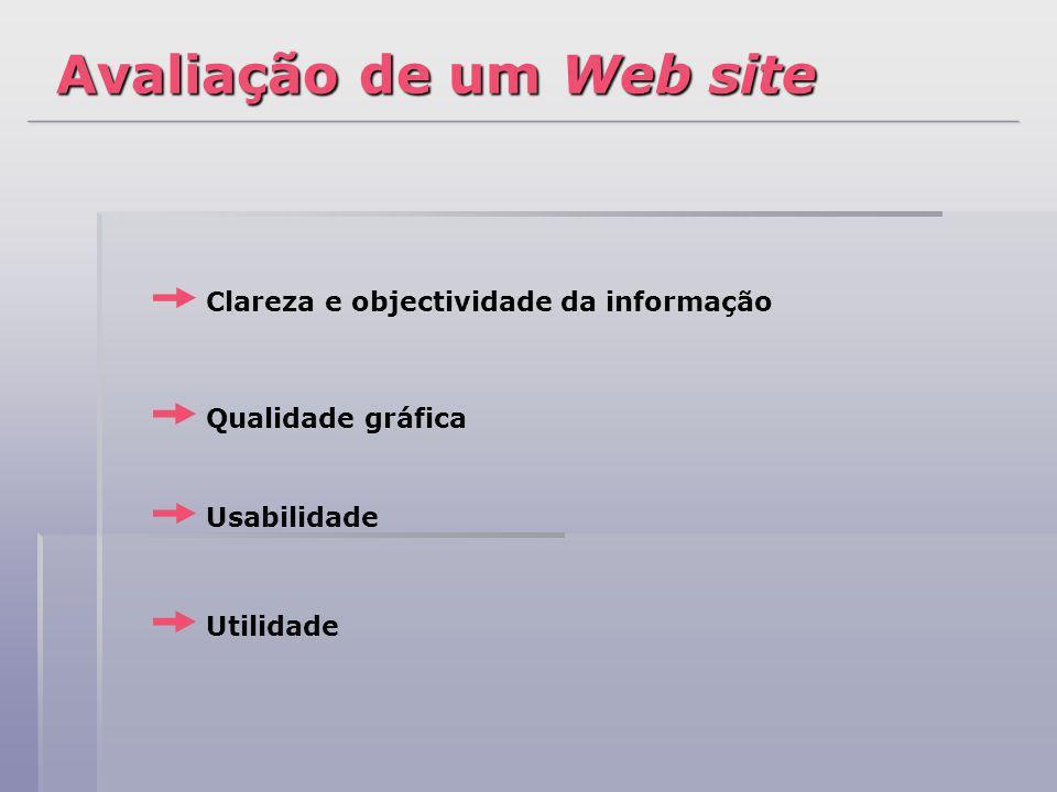 Avaliação de um Web site
