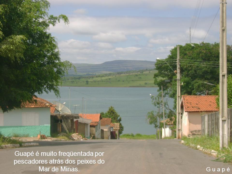 Guapé é muito freqüentada por pescadores atrás dos peixes do Mar de Minas.
