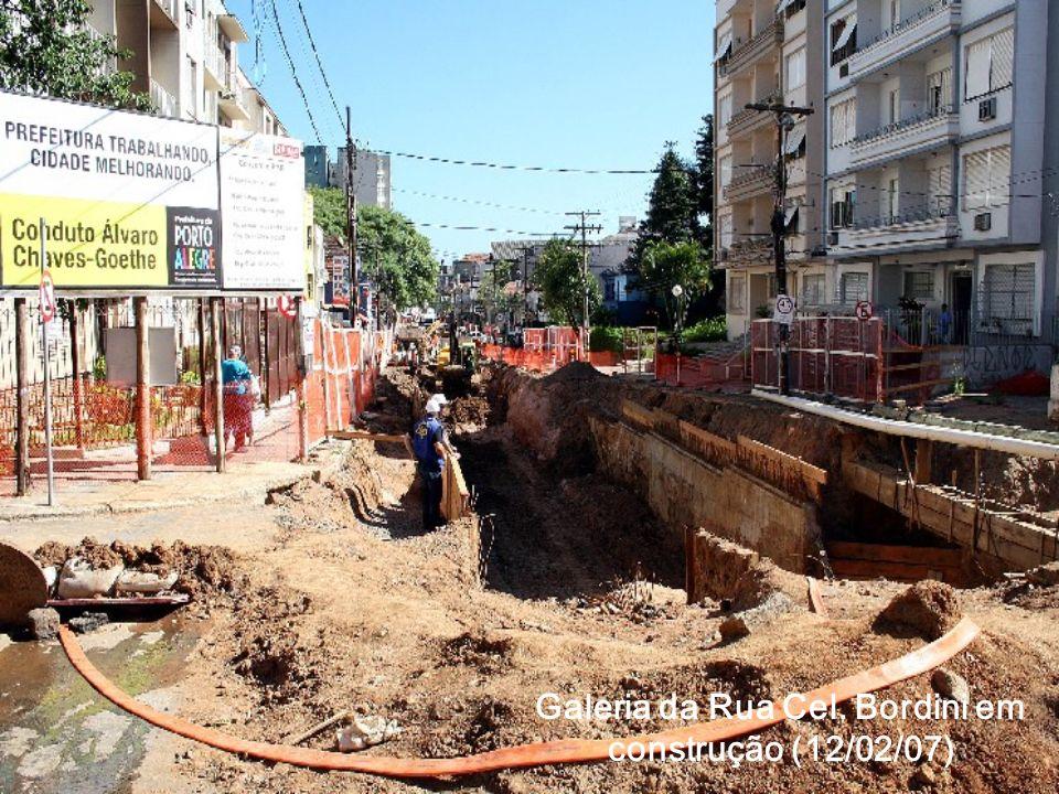 Galeria da Rua Cel. Bordini em construção (12/02/07)