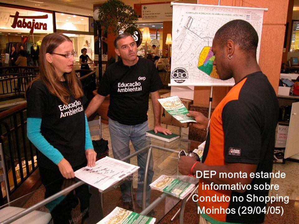 DEP monta estande informativo sobre Conduto no Shopping Moinhos (29/04/05)