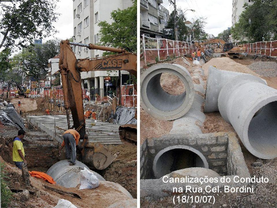 Canalizações do Conduto na Rua Cel. Bordini (18/10/07)