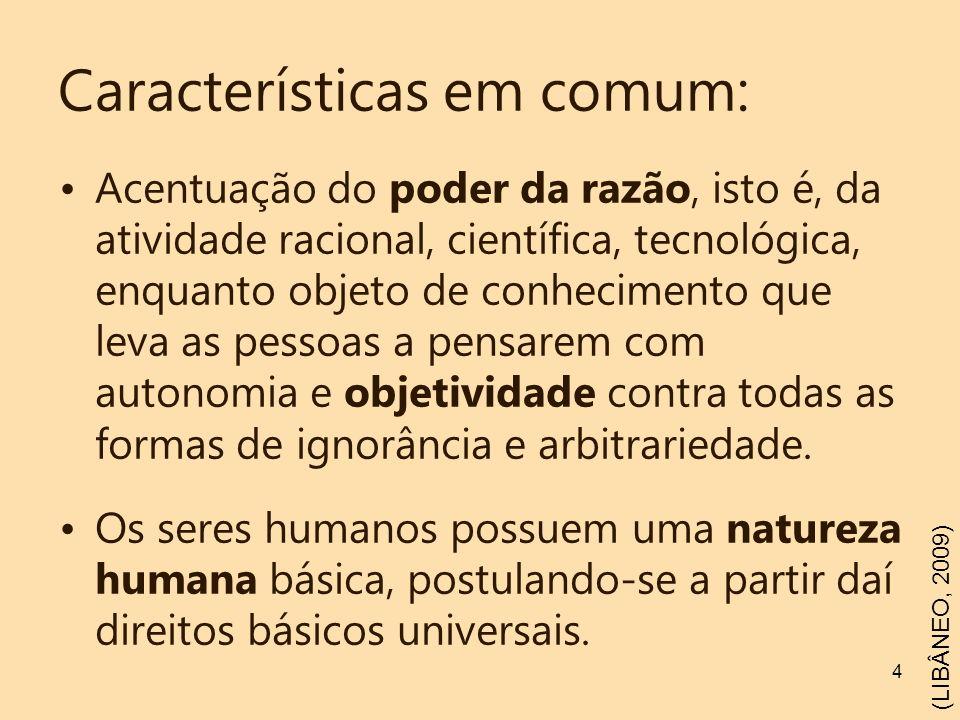 Características em comum: