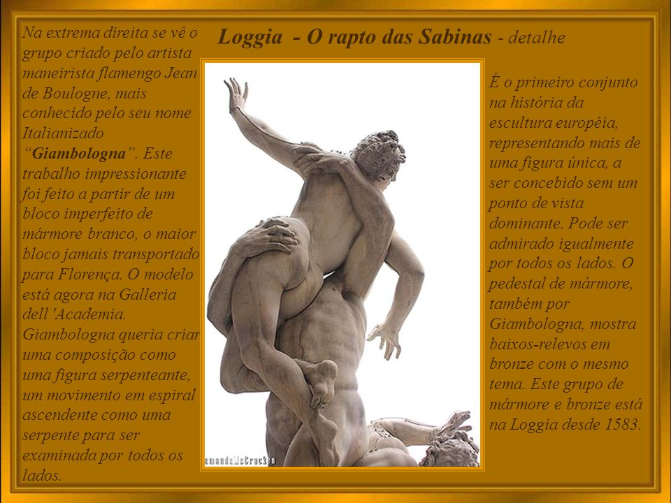Loggia - O rapto das Sabinas - detalhe