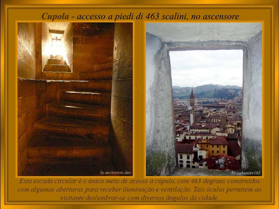 Cupola - accesso a piedi di 463 scalini, no ascensore