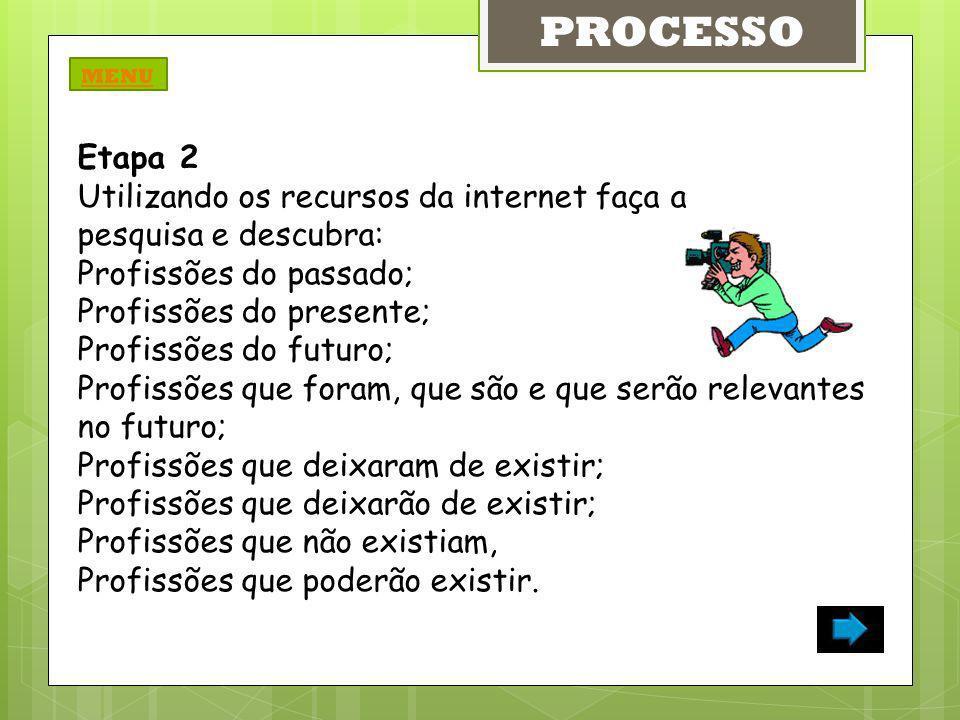 PROCESSO Etapa 2 Utilizando os recursos da internet faça a