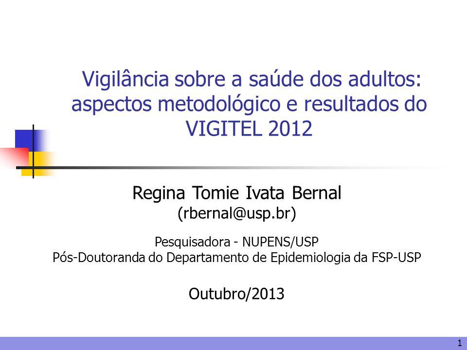Vigilância sobre a saúde dos adultos: aspectos metodológico e resultados do VIGITEL 2012