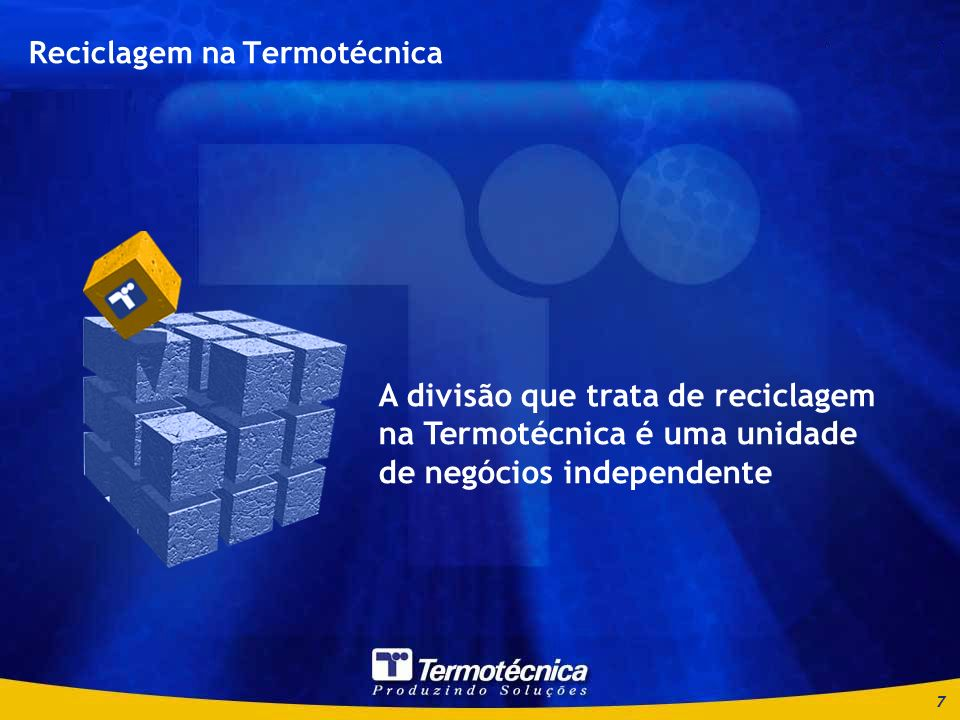 Reciclagem na Termotécnica