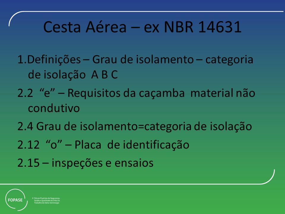 Cesta Aérea – ex NBR 14631
