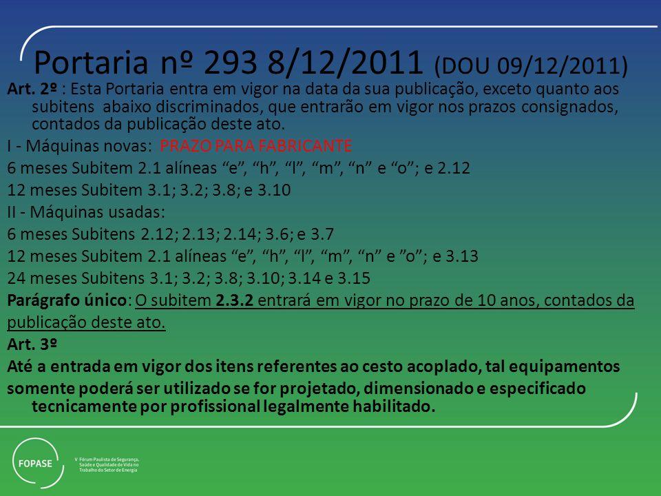 Portaria nº 293 8/12/2011 (DOU 09/12/2011)