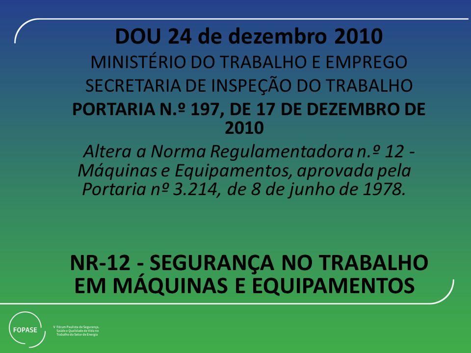 NR-12 - SEGURANÇA NO TRABALHO EM MÁQUINAS E EQUIPAMENTOS