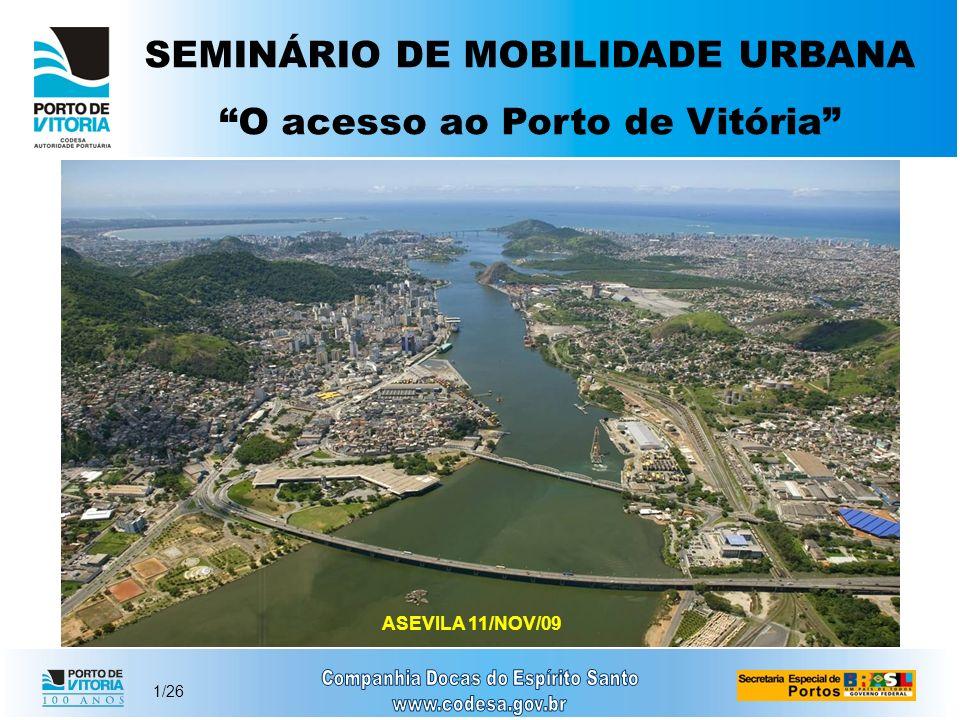 SEMINÁRIO DE MOBILIDADE URBANA O acesso ao Porto de Vitória