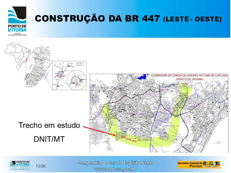 CONSTRUÇÃO DA BR 447 (LESTE - OESTE)