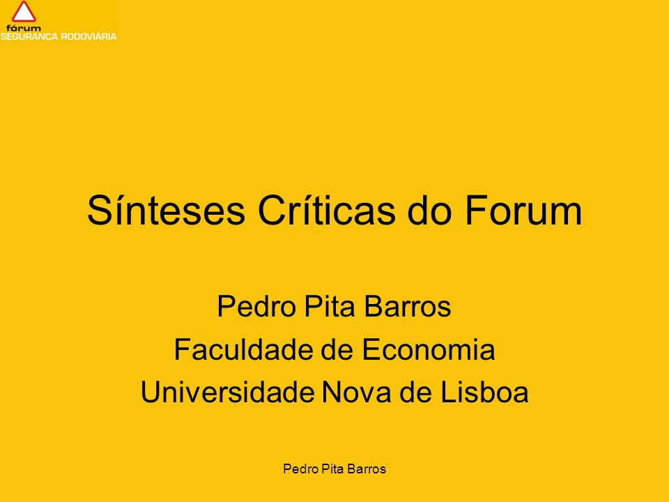 Sínteses Críticas do Forum
