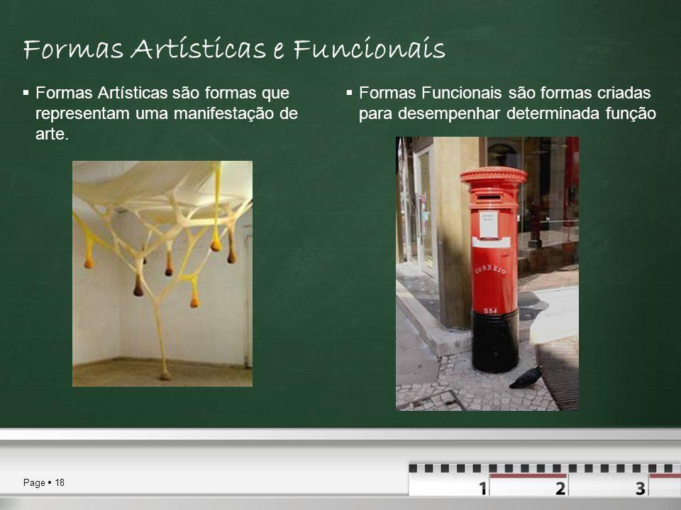 Formas Artísticas e Funcionais