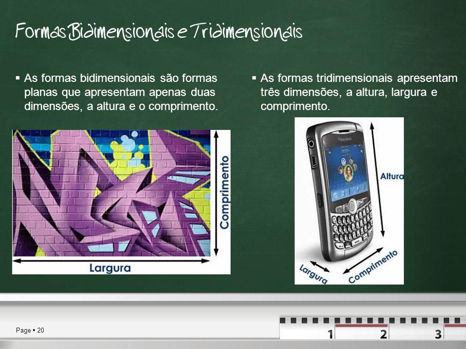 Formas Bidimensionais e Tridimensionais